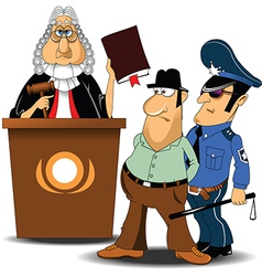 Judge and policeman with criminal vector