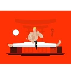 Karate character in the splits vector