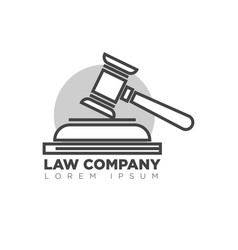 law company office monochrome logotype with judges vector image