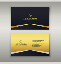 luxury business card design template vector image