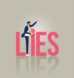 Lying people in business or politics concept vector