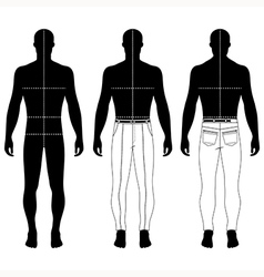 mans black silhouette figure vector image