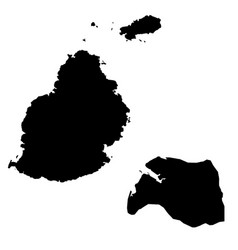Map mauritius and port louis country and capital vector