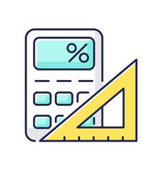 Mathematics rgb color icon vector