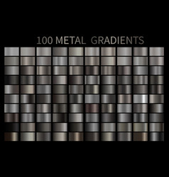 metal gradient color set metallic chrome vector image