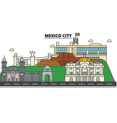 Mexico city city skyline architecture buildings vector