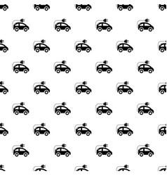 Modern electric car pattern seamless vector