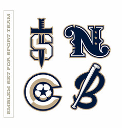 Modern professional letter emblems for sport teams vector