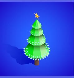 new year christmas tree isometric vector image