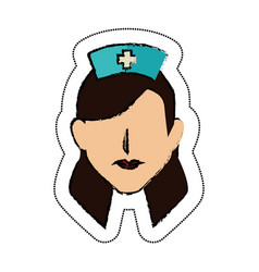 Nurse avatar character icon vector