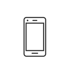 phone device sign icon in flat style smartphone vector image