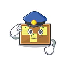 Police bulletin board with cartoon shape vector