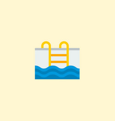 pool icon flat element of vector image