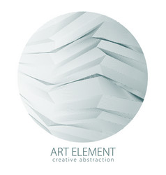 Round shape art and design element of beautiful vector