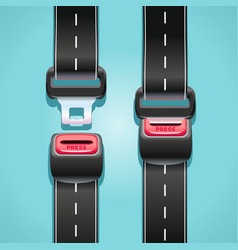 Safe road with seat belts vector