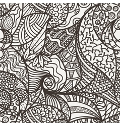 seamless abstract pattern of leaves vector image