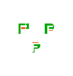 Set of initial letter pf logo template design vector
