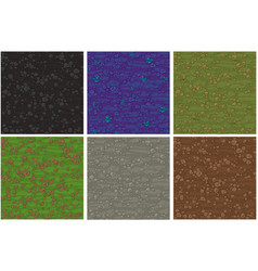 set seamless texture ground with small stones vector image