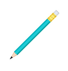 simple graphite pencil with rubber eraser icon vector image