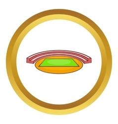 Small sports stadium icon vector