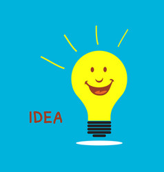 smile idea vector image