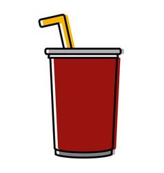 soda paper cup vector image
