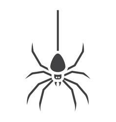 spider glyph icon halloween and scary danger vector image