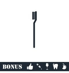 Toothbrush icon flat vector image