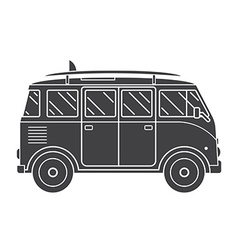 Travel Omnibus Outline Silhouette Icon vector image