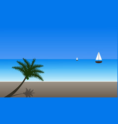 Tropical island with trees vector