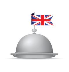 Uk flag dinner platter vector