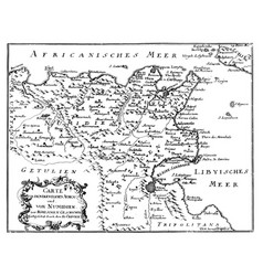Vintage drawing or engraving antique map of vector