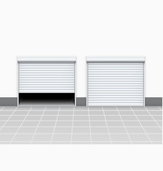 warehouse or garage roller shutter door factory vector image