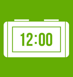 watch icon green vector image