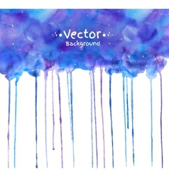 Watercolor texture with smudges vector image