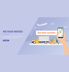 We have moved or moving business company for vector