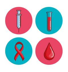 World hemophilia day set icons vector