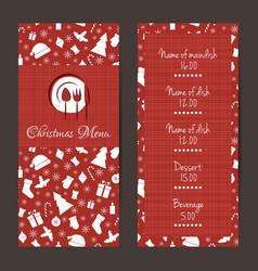 Christmas festive menu design vector image