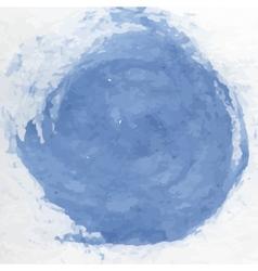 Dirty blue watercolor vector image vector image