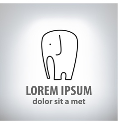 Elephant Emblem for Your Business vector image vector image