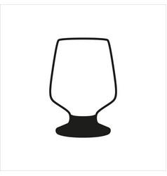 empty wine glass icon monochrome style vector image vector image