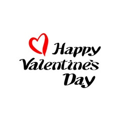 happy Valentines day and typography elements vector image vector image