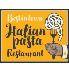 Italian pasta on fork vector image vector image