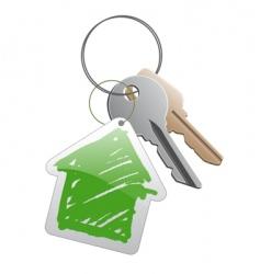 keys with trinket vector image