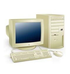 retro computer vector image vector image
