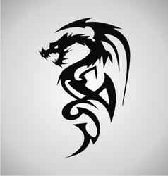Tribal Dragon Tattoo Design vector image