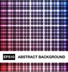 Abstract neon crossed lines vector image vector image