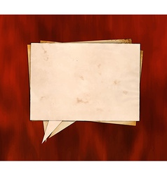 Aged paper speech bubble on the wood vector image