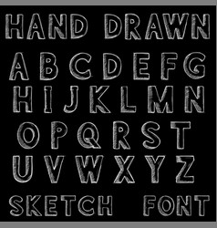 font alphabet letters in grunge dirty style hand vector image