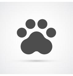 Footprint paw trendy icon vector image